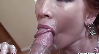 MILF pornstar fucks and facial