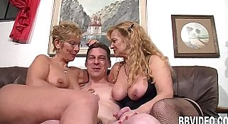 German milfs suck and fuck a hard dick