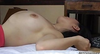 Sexy asian milf goes crazy
