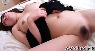 Sexy mother i'd like to fuck caresses herself