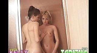 Teen Kelly/Teen Tabitha shower lesbians Part 2